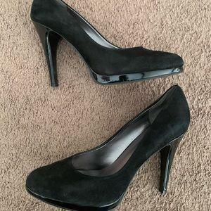 Black Nine West Faux Suede heels
